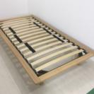 無印 ウッドスプリング脚付きベッド シングルサイズ 一人暮らし 単身用