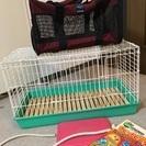 小動物、うさぎ飼育セット キャリーバッグ付き