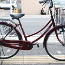 商談中26インチ ママチャリ ワインレッド 自転車