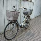 パナソニック製 電動アシスト自転車 予備バッテリー付き 前後かご付...