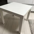 (取引中) IKEA ローテーブル 白 あげます