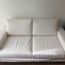 無印のソファ ワイドアーム 二人がけ カバーは無印で変えます。