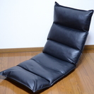 【練馬区】美品★レザーの座椅子 イス 合皮ブラック