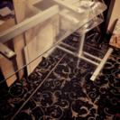 【期間限定・無料!】オシャレ ガラステーブル PCデスク