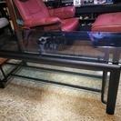 天板ガラスリビング用テーブル・46インチまでのテレビ台にもなります