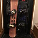 【商談中】スノーボード板 ビンディング 2枚セット