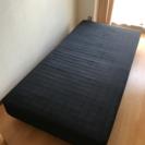ベッド 足つきマットレス 黒