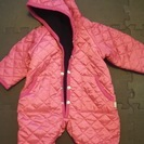 70cm★防寒★濃いめピンクのジャンプスーツ 美品