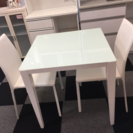 D 2人掛けダイニングテーブルチェアset [ピュアホワイト]