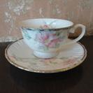 ティーカップ ソーサー付 1客 花柄 ピンク きれい