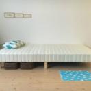 シングルベッド ☆ ホワイト 脚付