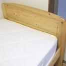 木製シングルベッド+マットレス