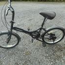 折り畳み自転車 黒 6段ギア付