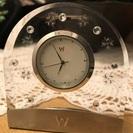 【ほぼ新品】ウエッジウッド クリスタルスワロフスキー置き時計