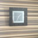 正方形の掛け時計(ウォール時計)
