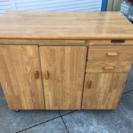 キッチンボード 木目 カントリー調 収納