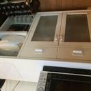 モモナチュラル キッチン収納ボード 棚 白