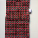 防災頭巾兼座布団神戸市立幼稚園入園準備品サイズ 赤地チェック