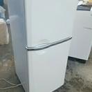 三菱 ノンフロン 冷凍冷蔵庫 MR-14J-W 2ドア
