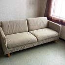 ちょっと大きめ2人掛けソファ /布製