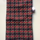 防災頭巾兼座布団 神戸市立幼稚園入園準備品サイズ 紺地系チェック