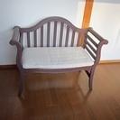 アンティーク風長椅子二人掛け中古品