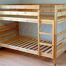 値下げ!IKEA・MYDAL 2段ベッド 木製・都内配送オプション...