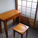 机・椅子セット 【新品・無垢材】