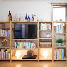 ◆IKEA シェルフ◆ イケア TV棚 本棚 木製 美品