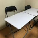 学習机、パイプ椅子セット!