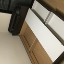 組み立て式ダブルベット(収納付き•照明付き•コンセント付き)