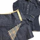 レディース【BURBERRY/38サイズ】デニムジャケット&スカー...