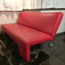 菱乃実購入 赤いソファベッド