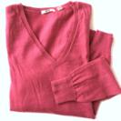 UNIQLO wool 100% Vネックニット M