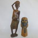 木彫りの人形2個です。