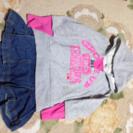 kids スカート付き パーカー ❗️105〜115