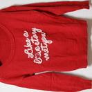 【洋服300円均一♪】【状態良いものだけ出品します♪】薄手の赤セーター♪