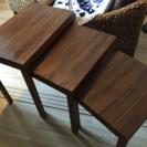 バリ家具 三連テーブル