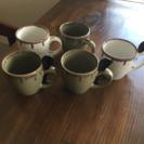 陶器マグカップ 5個