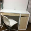 勉強机椅子付き IKEAミッケライトイエロー