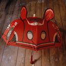 新品タグ付 赤い車柄傘