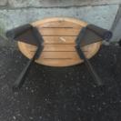 激レア・天然木とアイアン製・サイドテーブル
