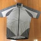 半袖サイクルウェア(灰色、Mサイズ)