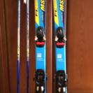 ジュニア用スキー118cm&ストック