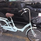 三人乗り対応 子供乗せ自転車 ママフレツイン203 スーパーハイシート