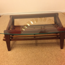 Bcompany ガラスローテーブル