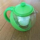 ★紅茶ポット プラスチック製 緑色★