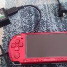 ソフト多数付、PSP-3000ラディアントレッド 動作確認品