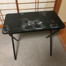 ジャンク 折り畳みテーブル W78×D43×H70