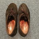 スコッチグレイン スウェード 茶色 靴 25.5cm